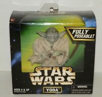"NEW STAR WARS ACTION COLLECTION 5"" YODA ACTION FIGURE FULLY POSEABLE 1997"