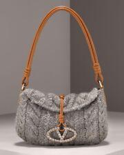 Valentino Garavani Grey Wool Bag with Crystal emblem $219.00 !!