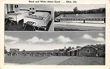 Eden -Pell City Alabama~Black & White Motel~B&W Postcard, Too 1940s