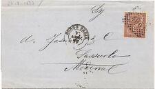 P6811   Vercelli, Borgosesia, annullo numerale a punti + DC 1877