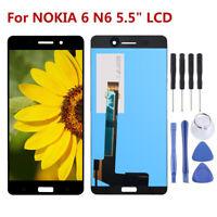 "Schwarz Für NOKIA 6 N6 5.5"" Display LCD Touchscreen Digitizer Assembly +Tools D5"