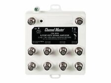 Channel Master Cm3418 8 Port Distribution Amplifier for Cable and Antenna Signals 020572034180