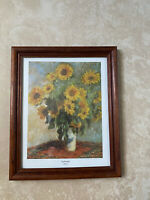 SUNFLOWERS by Claude Monet Print Framed 11x9""