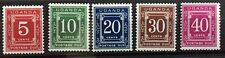 1967 UGANDA postage due MNH partial set Scott # J1-5