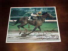 Angel Cordero Autographed Signed Horse Racing Jockey Photo Java Gold