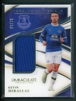 2020 KEVIN MIRALLAS 80/99 JERSEY PANINI IMMACULATE COLLECTION HERALDED MATERIALS