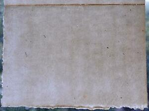 ANTIQUE BLANK PAPER 1828 GENUINE OLD SHEET SCROLL CALLIGRAPHY LEAF PAGE 1800's