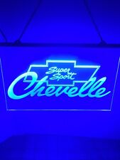 Chevrolet Chevelle Ss Led Light Sign Display Bar ,garage Sign Large 16x12�