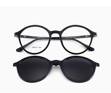 Magnetic Clip On Sun Glasses Unisex Rx able Eyeglass Frames Eyewear Spring Hinge