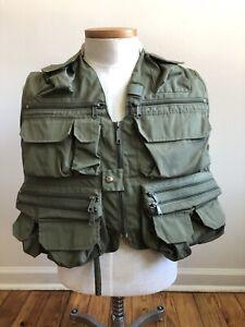 Vtg Orvis S Green Lightweight Super Tac-L-Pak Fly Fishing Vest Many Pockets
