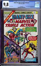 Giant-Size Marvel Triple Action #1 CGC 9.8 1975 Avengers! Rare! WHITE! M3 320 cm