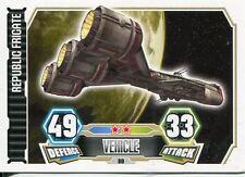 Star Wars Force Attax Series 3 Card #80 Republic Frigate