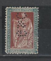 FRANCOBOLLI - 1928 REGNO E.FILIBERTO C. 30 PERFIN G e C E/5425