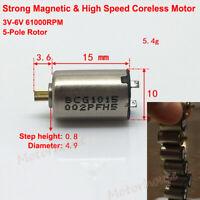 Micro 17mm Big Coreless Motor DC 5V 6V 12V High Speed 11 Teeth Gear Servo Motor