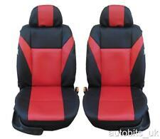 1+1 el frente de Cuero Rojo Cubiertas de Asiento para Nissan Micra Qashqai Nota Juke Nuevo
