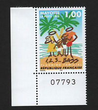 OPC 1998 Mayotte Family Planning with Plate No. Sc#94 MNH 33472