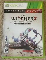 The Witcher 2 Assassins of Kings Enhanced Edition Silver Box Xbox 360 Cib No Map