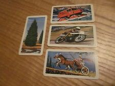 LOT of 4 vintage Brooke Bond  RED ROSE TEA CARDS - Series 10 (3) & 11 (1)