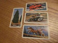 LOT of 4 vintage Brooke Bond  RED ROSE TEA CARDS - Series 10 (3) & 11 (1)