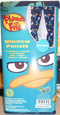DISNEY XD PHINEAS AND FERB AGENT P WINDOW TREATMENT CURTAIN PANELS OF 2~NEW~