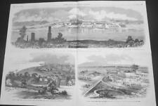 Vicksburg - Aldie, Va. &  Manassas, Va. - Large Size - Civil War- Leslie's- 1863