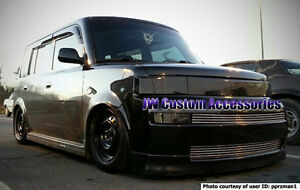 Fits 04-06 Scion xB GTS Smoke Acrylic Headlight Center Grille Panel Covers 3pc