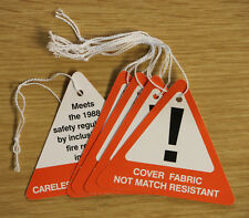 FIRE SAFTEY RED TRIANGULAR WARNING TAGS SWING TICKETS PACK OF 50
