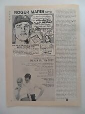 1962 Print Ad Aqua Velva After Shave Roger Maris New York Yankees