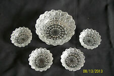 Westmoreland Glass #909 Lacy Daisy child Toy Berry Set Master and 4 small Bowls