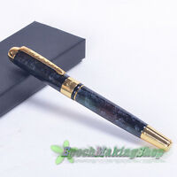 jinhao 250 Black flower and golden m nib fountain pen new