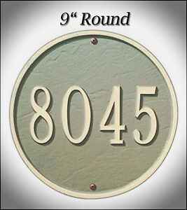 """Whitehall 9"""" Round Address Marker Personalized Plaque - 17 Color Choices No Rust"""