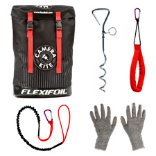 Flexifoil Camera Kite Rucksack, Leash, Ground Stake, Handle & Protection Gloves