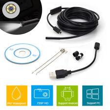 6LED USB HD Inspektionskamera Endoskop Kamera IP67 Wasserdicht Für Android/Win