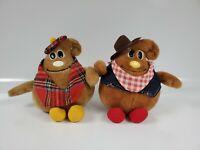 Vintage 1984  Nestle Scotchy Plush Stuffed Characters. Two (2)