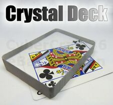 CRYSTAL DECK CLEAR INVISIBLE ICE BOUND OMNI GLASS BLOCK PLAYING CARD MAGIC TRICK