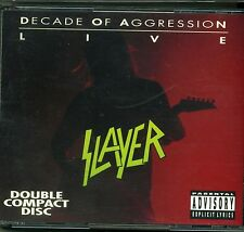 SLAYER - DECADE OF AGGRESSION - 2 CDs LIVE - 1991 Def American