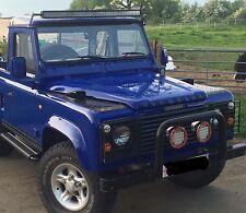 Land Rover Defender 52'' Led Light Bar Package Brackets Custom Fit Onto Gutters,