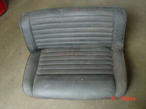 76-86 Jeep CJ back rear seat solid CJ5 CJ7 black painted garnet
