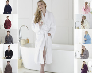 Large Men & Women Towelling Terry Bath Robe 100% Egyptian Cotton Dressing Gown