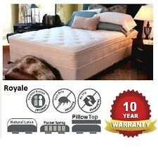 ROYALE QUEEN LATEX MATTRESS PILLOW TOP POCKET SPRING AND ENSEMBLE BASE