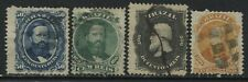 Brazil 1866 various values to 500 reis used