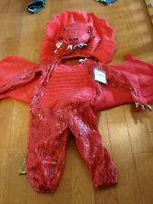 POTTERY BARN KIDS RED DRAGON COSTUME BOYS/GIRLS SIZE 3T ADORABLE