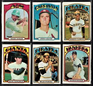 1972 TOPPS BASEBALL SET 455/787 WITH HIGH #'S AARON MAYS / SEE DESCRIPITION