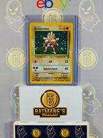 Hitmonchan 8/130 LP Played Base Set 2 1999 WOTC Holofoil Rare Holo Pokemon Card