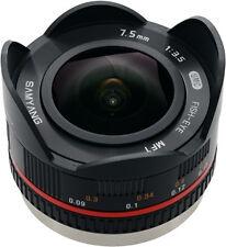 Samyang 7.5mm F 3.5 Fisheye Lens for M4 3 Mount Black