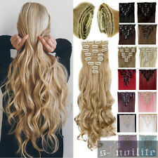 AU Any Shade & Length Clip in Full Head hair Extensions as remy human hair hg69
