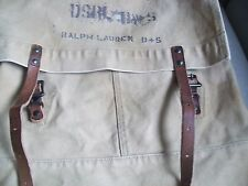 Ralph Lauren Denim & Supply Backpack SACK BEIGE CANVAS LEATHER STRAP NEW RN41381