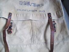 Ralph Lauren Denim & Supply Backpack SACK BEIGE CANVAS LEATHER STRAP NEW RN41381