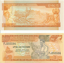 Äthyopien/Etiopia - 5 etiopico 1991 UNC Pick 42a