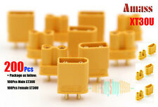 200Pcs Upgrade Amass XT30U Connector 2MM gold-plated Plug for Copter RC Battery